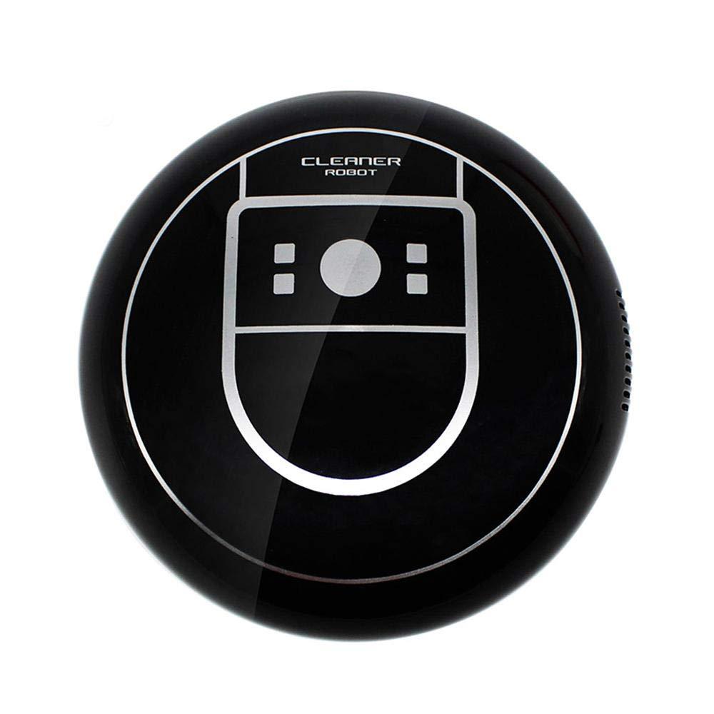 Teepao Robot Aspirapolvere Lavapavimenti Mini Aspirapolvere Interruttore a Un Pulsante, Sistema di Pulizia ad Alte Prestazioni, Sensore Automatico, Ricarica USB - Nero