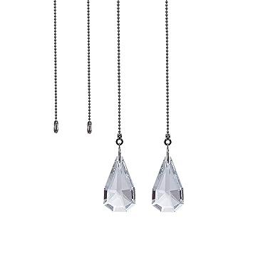 longsheng - 2 Piezas de Cadena de Tirar de luz para Colgar Ventanas de Cristal,