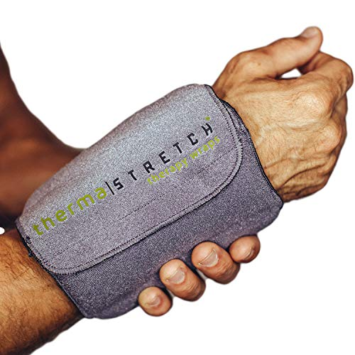 Therma-Stretch Smart Wrist & Ankle Joint Microwaveable Wrap for Pain Relief, Best for Carpal Tunnel & Tendonitis | Comfortable Hot Cold, Physical Therapy, Stretchable Compression