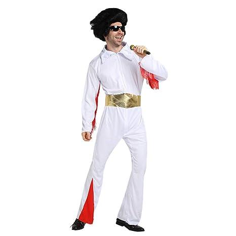 first123 Traje de Hombre Elvis Mono Elvis Traje Blanco ...