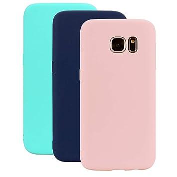 3 Colores Funda Samsung Galaxy S6, Yunbaozi Carcasa Caucho Funda de Silicona Caramelo Ultra Suave Flexible TPU Case Cover Samsung Galaxy S6, Verde ...