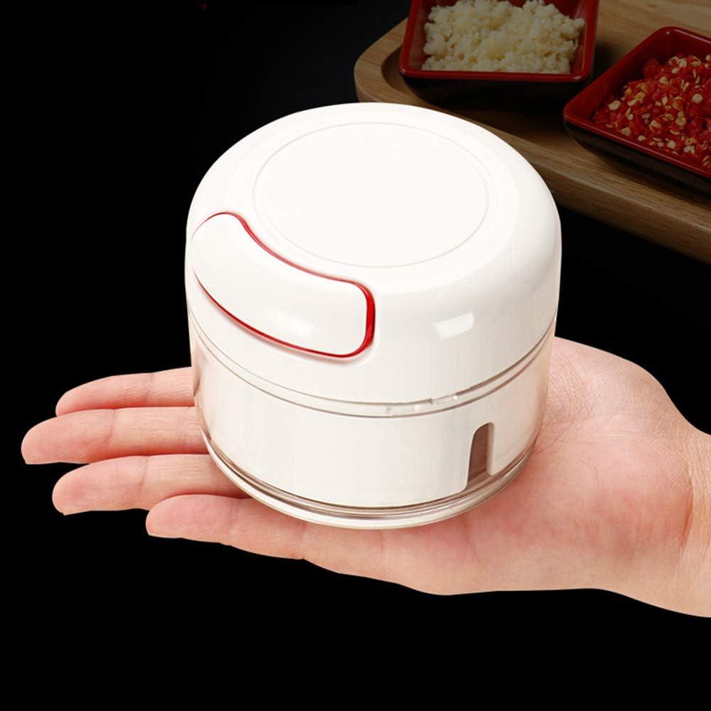 VEEMOS Manual Food Chopper - Mini Hand Pull Food Processor Garlic Press Mincer Vegetable Grinder for Meat Nuts Pepper, BPA Free/Durable