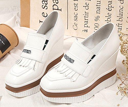 von Sneakers Low Damen von Slip für White neue Der Cut Aisun Platform qTxUYY