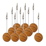 uxcell Resin Office Basketball Shaped Tabletop Decoration Note Paper Memo Clip 10 Pcs