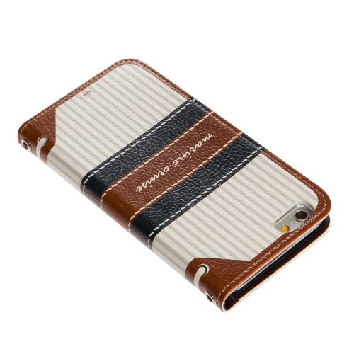 Mr.H Marine Special Designer Leather Bow Type Cruise Diary Case for iPhone 6 Plus (Brown)