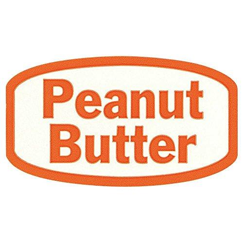 (Peanut Butter Labels White Traditional Flavor Food Packaging Labels Orange Imprint - 1 3/8 L x 3/4 H 1000 Per)