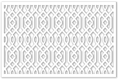 Acurio 3248ID-2-WH-AZZ Lattice Azzaria Panel Screen as Trellis, Patio & Outdoor Decor, White