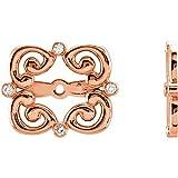 14K Rose .08 CTW Diamond Earring Jackets