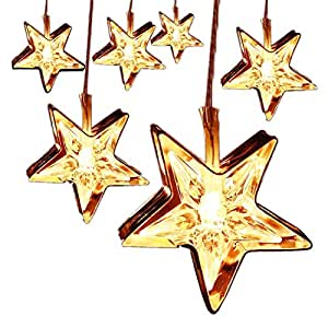 10 LEDs Stars String Lights, Decorative Iron Art Light for Indoor Home Bedroom Wedding Festival Christmas Party, Battery Operated
