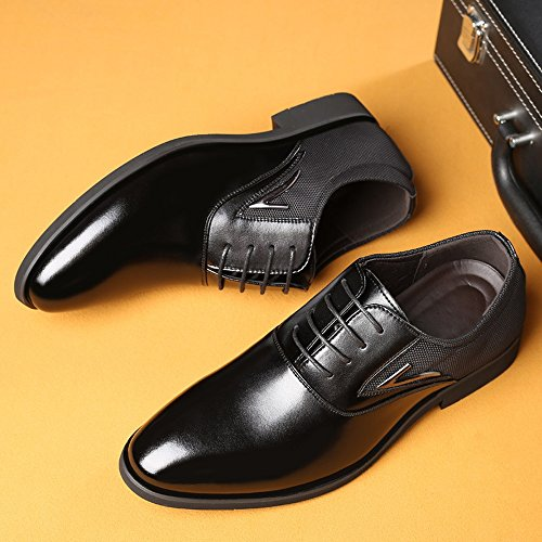 Up para 2018 Splice Color Forrados Zapatos Respirables Smooth Canvas shoes Fang 40 Black Hombre Size PU EU Negocios amp; Formales Lace Leather Hombres Black Zapatos de Upper Oxfords 8qUCwZ
