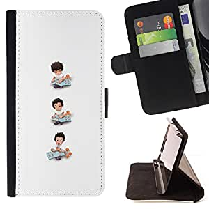 Jordan Colourful Shop - White Minimalist Kid Mothers Mom For Apple Iphone 5C - Leather Case Absorci???¡¯???€????€?????????