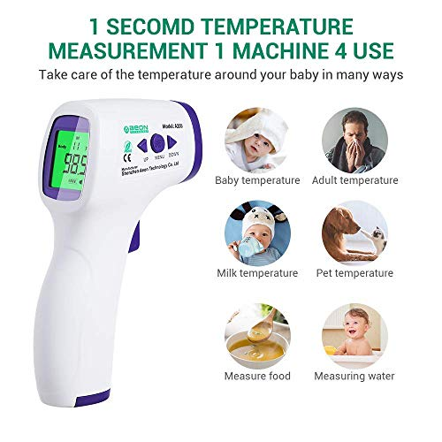 51 v5OdOEpL - Forehead Thermometer For Adults/Kids, Non Contact Infrared Thermometer For Fever, Medical Thermometer, Precise Digital Forehead Body Thermometer For Adults Kids And Baby, Easy To Read At Night
