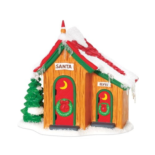 Department 56 North Pole Village Up North Outhouse Accessory Figurine
