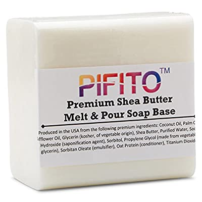 Pifito Premium Shea Butter Melt and Pour Soap Base - Natural Vegetable Glycerin Base - Excellent Hand Soap Making Supplies by Pifito