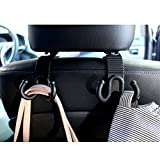 Coyom Headrest Hangers Set – Includes 2 Holders – Abrasion Resistant Car Hooks – Easy Headrest Mounting Car Seat Hook or Car Organizer – Clutter Free Space & Comfortable Rides