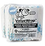 ValueWrap Male Wraps for Dogs, Single-Tab Small, 24 Count