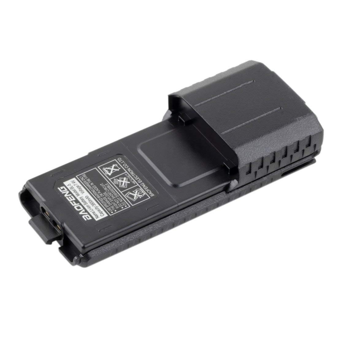 Color:Black Kaemma para Baofeng BL-5L 3800mah 7.4v Reemplazo extendido de la bater/ía de i/ón de Litio y energ/ía de Respaldo de la bater/ía para la Radio Baofeng UV-5R