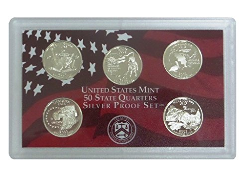 Tennessee State Coin - 2002 S Washington State Quarters Silver 5-Coin Proof Set No Box Set Uncirculated