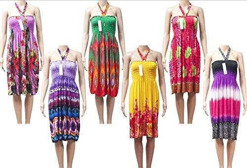 Variety R1 Wholesale Lot Clothing 250 Women Mixed Dresses Summer Tops Clubwear S M L XL by Variety (Image #5)