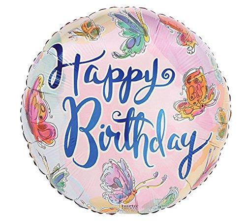Happy Butterfly Birthday Balloons (Burton & Burton 9