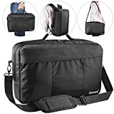 Laptop Briefcase Backpack, Gonex Unisex Convertible 15.6 Inch 3-Way Tablet Shoulder Bag for Business Work Travel Black