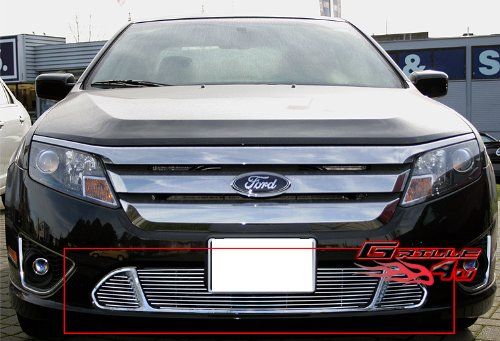 Ford Fusion Bumper Grille - APS Fits 10-12 2011 2012 Ford Fusion Sport Lower Bumper Billet Grille #F66660A