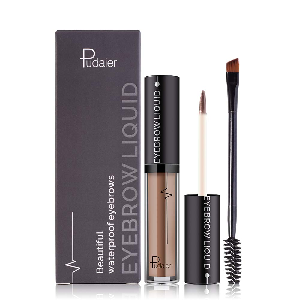 Waterproof Eyebrow Gel, 24Hours Long Lasting Brow Color Gel Mascara for Eyebrow Makeup, Sweat Resistant Transfer Proof Fills and Thickens Brows Gels, Light Brown Color