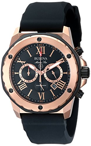 Bulova Men's 98B104 Marine Star Calendar Stainless Steel Dress (Marine Star Mens Quartz Watch)