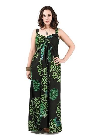 d2db7577376  4228 Damen Kleid Maxikleid lang Sommerkleid Patchwork große Größen 44 - 52  Schwarz (40