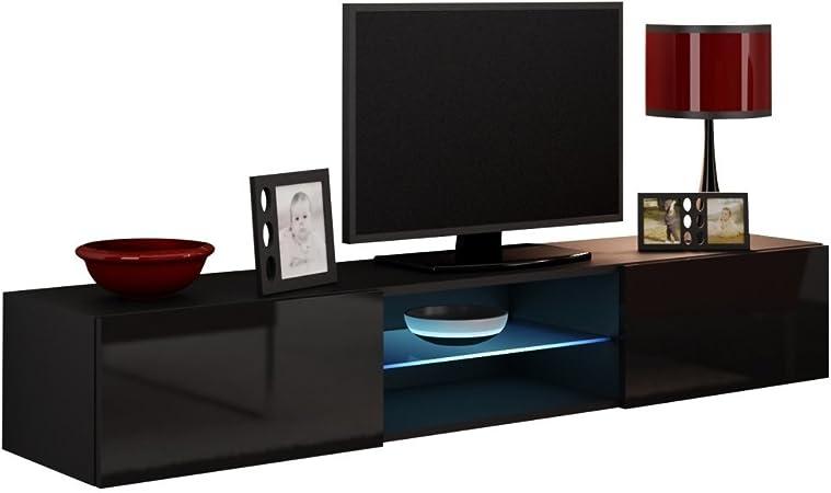 JUSTyou Vago Cristal Mueble para TV Mesa televisión salón Color ...