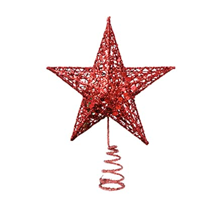 Red Glittered Christmas Star Tree Topper, 6.3 Inch - Amazon.com: Red Glittered Christmas Star Tree Topper, 6.3 Inch: Home