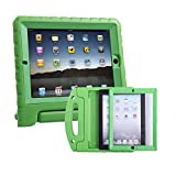 HDE iPad 2 3 4 Bumper Case for Kids Shockproof Hard Cover Handle Stand with Built in Screen Protector for Apple iPad 2nd 3rd 4th Generation (Green)
