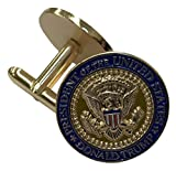 President Donald Trump NEW Gold Eagle Cuff Links with Oval Office Presidential Seal & colorized shield