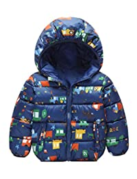 Kid Girls Comfortable Warm Casual Loose Lovely Snowsuit Jacket for Winter Dark Blue 4-5T