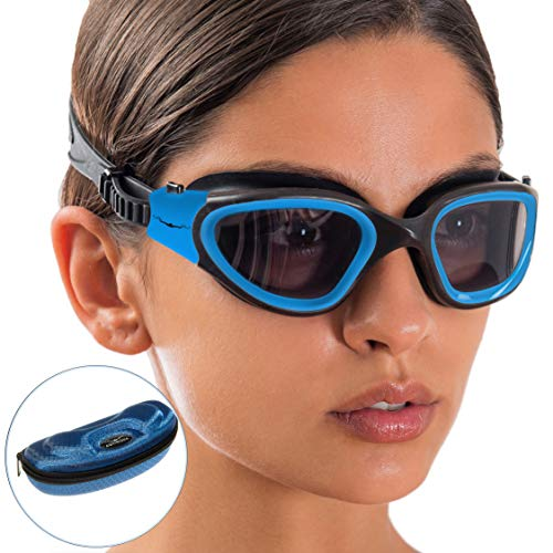 AqtivAqua Wide View Swim Goggles // Swimming Workouts – Open Water // Indoor – Outdoor Line