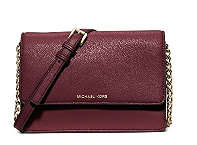 ca201652057a0d Image Unavailable. Image not available for. Color: Michael Kors Merlot Daniela  Small Leather Crossbody Bag