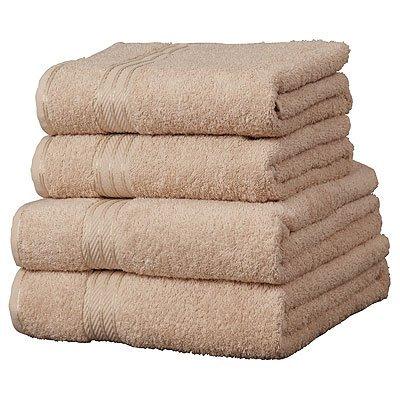 Linens Limited Supreme Serviette de toilette 100% coton égyptien, Latte