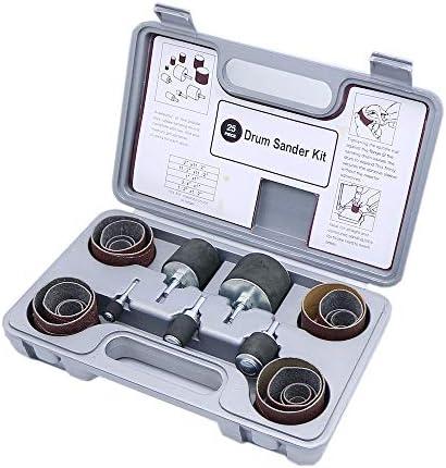 Lederpolster Schleifen Trommel Kit für Drill Press 1/2, 3/4, 2,5cm 3,8cm 5,1cm mit 80/120Körnung