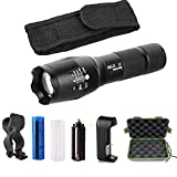 Super Bright XML-T6 LED Flashlight 3000 Lumens 5 Modes Tactical Zoomable Torch Light