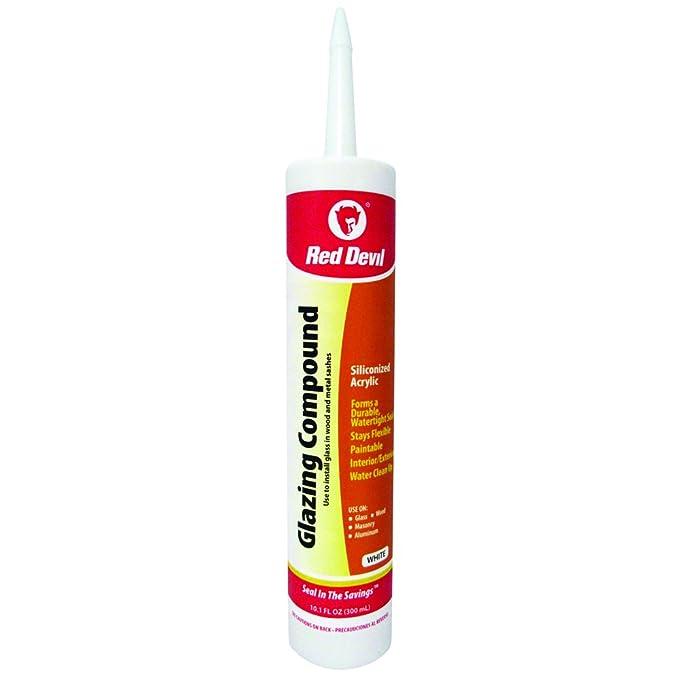 Amazon.com: Red Devil 0666 10.1-Ounce Glazing Compound, White: Home Improvement