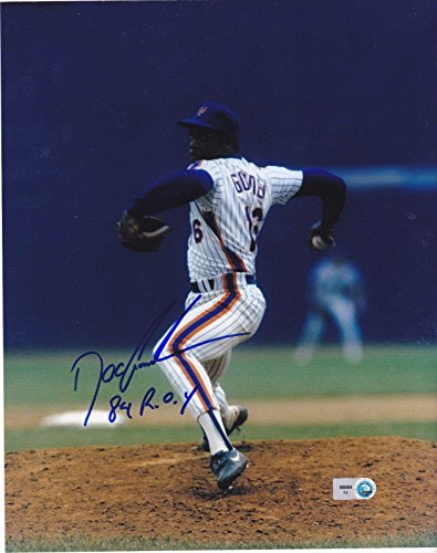 Dwight Gooden Signed Photo - 84 ROY 8x10 - Autographed MLB Photos
