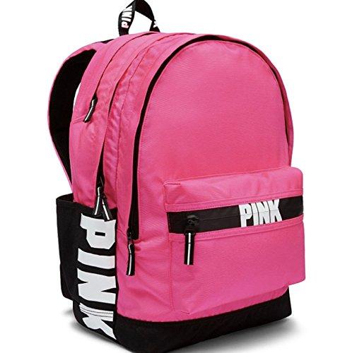 (Victorias Secret PINK Logo Campus Backpack in Hot Pink)
