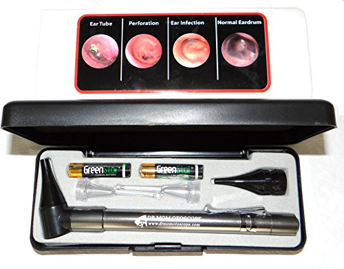 LIGHTED Ear Curettes plus HARD CASE-Third Generation Dr Mom Slimline