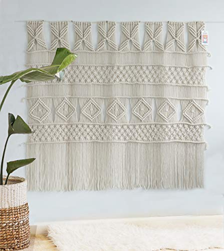(Flber Macrame Wall Hanging Macrame Curtain Panel Boho Wedding Woven Wall Art Home Wall Décor,52