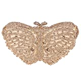 Fawziya Rhinestone Butterfly Clutch Bag In A Bags For Womens Purses-Smoky yellow