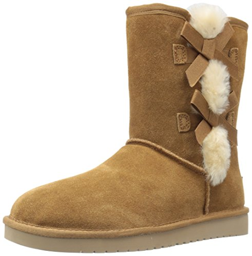Koolaburra by UGG Women's Victoria Short Fashion Boot, Chestnut, 09 M US
