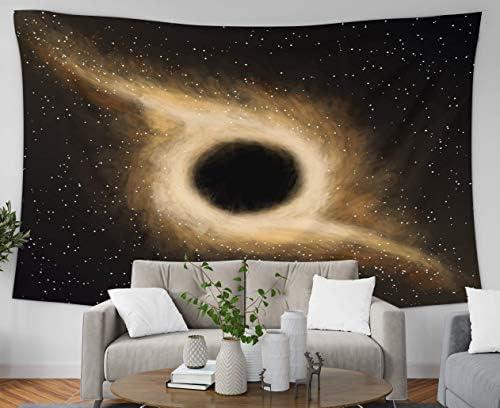 楽しいタペストリー壁掛け、リビングルームとベッドルームの巨大なタペストリー80 Lx60 Wインチブラックホールアート印刷社内 150X130CM
