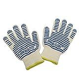 Armors Kevlar Heat Resistant Grill Gloves,1 Pair,Blue Stripe