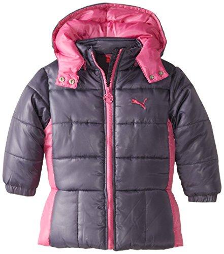 Puma Little Girls' Toddler Puffer Jacket, Phlox Pink, 4T
