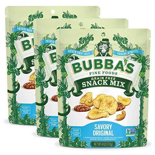 Bubba's Fine Foods Snack Mix, Savory Original (Pack of 3)   Grain-Free, Gluten-Free, Vegan, Paleo, Dairy Free and Certified Non-GMO